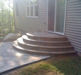 Block Paver Steps Before</br> Lawncare and Landscaping