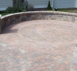 Patio with Seat Walls </br> Lawncare and Landscaping