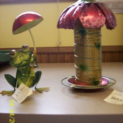 Bird Feeders and Frog Decor </br> Landscape Center