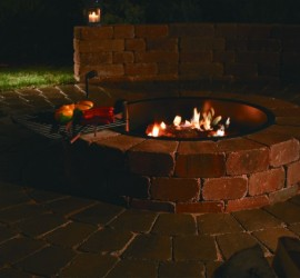 Fire Ring with Grate </br> Landscape Center